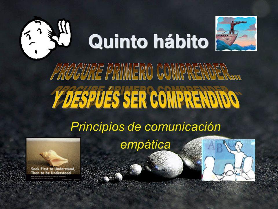 Quinto hábito Principios de comunicación empática