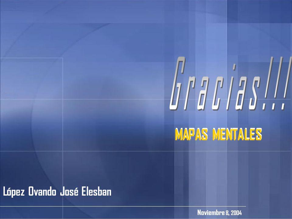 López Ovando José Elesban Noviembre 8, 2004 MAPAS MENTALES