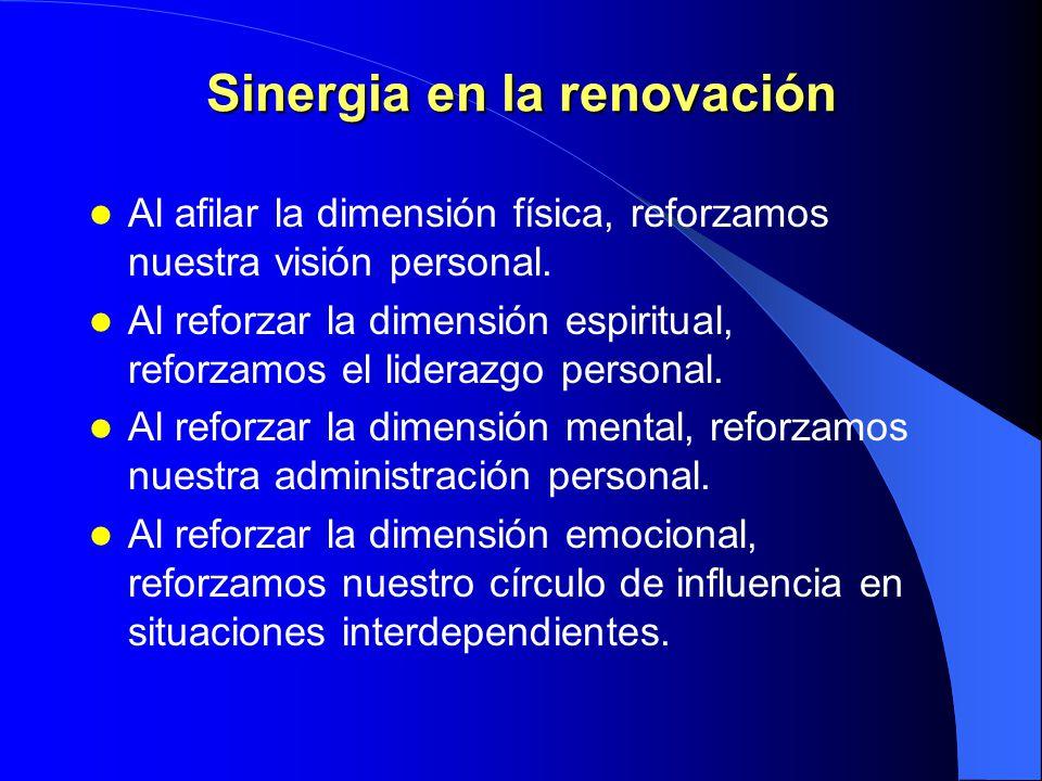 Equilibrio en la renovación NECESIDADMETÁFORAPARADIGMAPRINCIPIO Física/ Economica EstómagoRacionalJusticia Social/ Emocional CorazónRelaciones Humanas