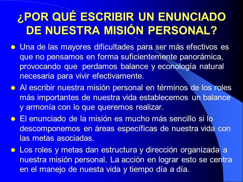 VISUALIZACIÓN Y AFIRMACIÓN El liderazgo personal es un proceso que implica tener en mente y corazón la propia visión y los propios valores, organizand