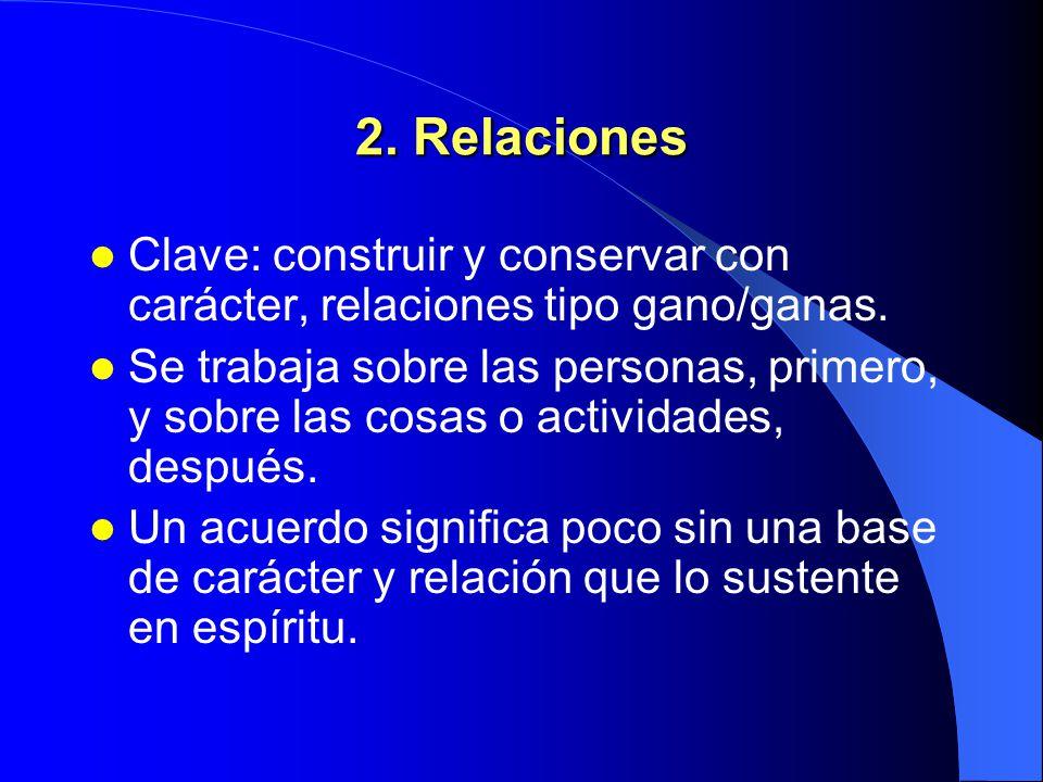 1. Carácter a) Integridad: valor que nos atribuimos a nosotros mismos. b) Madurez: equilibrio entre coraje personal y consideración por los demás. c)