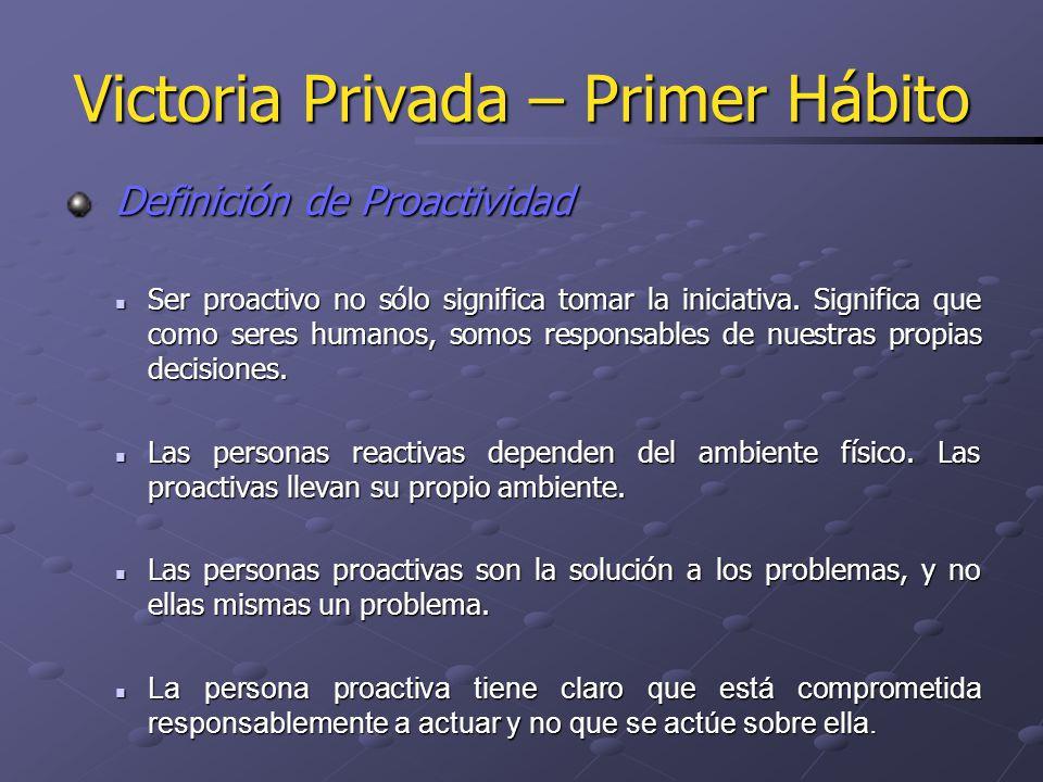 Definición de Proactividad Definición de Proactividad Ser proactivo no sólo significa tomar la iniciativa. Significa que como seres humanos, somos res
