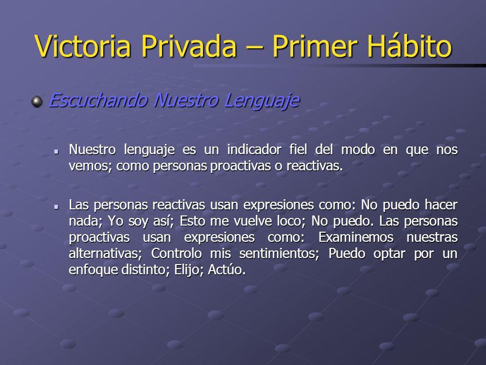 Victoria Privada – Tercer Hábito La delegación en encargados involucra una comprensión clara, un entendimiento mutuo y un compromiso acerca de las expectativas en cinco áreas.