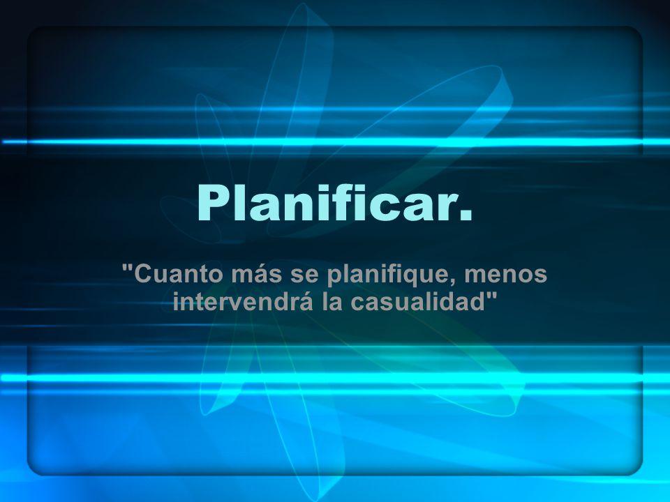 Planificar.