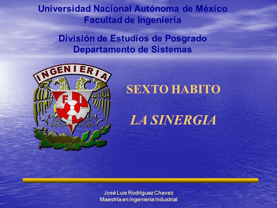 José Luis Rodríguez Chavez Maestría en Ingeniería Industrial Universidad Nacional Autónoma de México Facultad de Ingeniería División de Estudios de Po