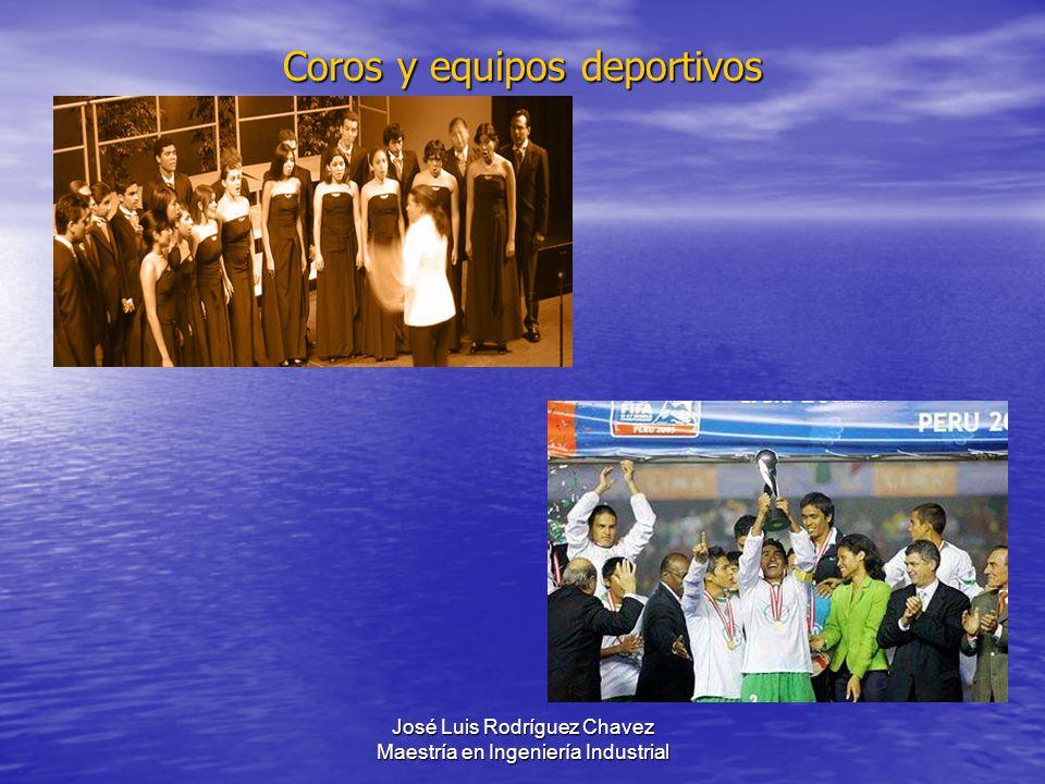 José Luis Rodríguez Chavez Maestría en Ingeniería Industrial Coros y equipos deportivos