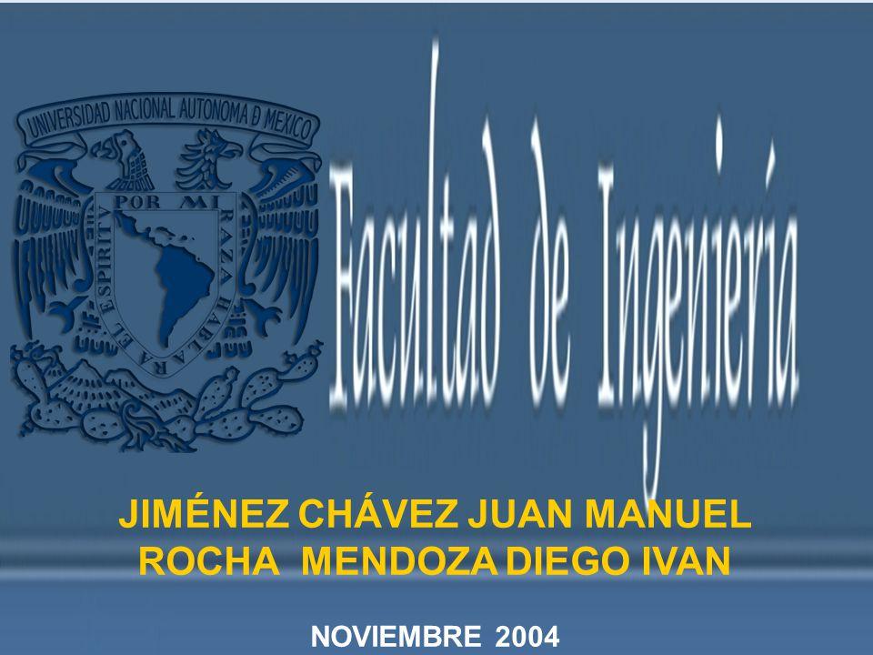 JIMÉNEZ CHÁVEZ JUAN MANUEL ROCHA MENDOZA DIEGO IVAN NOVIEMBRE 2004