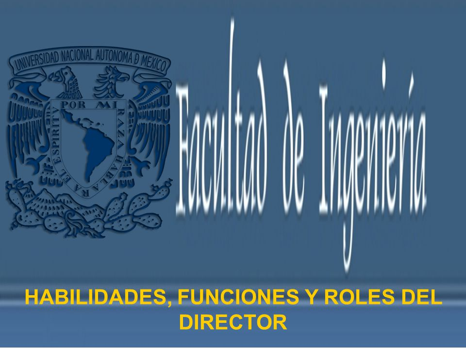 HABILIDADES, FUNCIONES Y ROLES DEL DIRECTOR