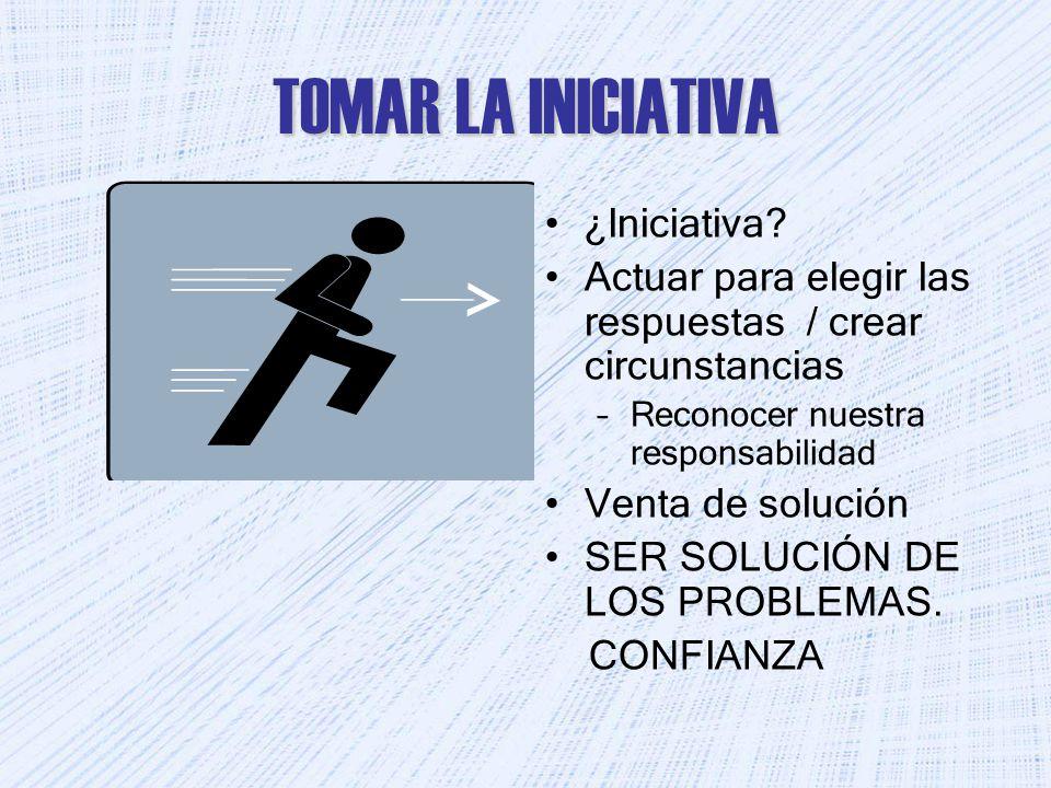 TOMAR LA INICIATIVA ¿Iniciativa.