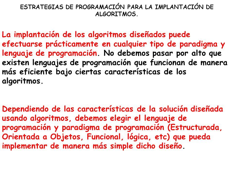 EL PROGRAMA COMO UNA EXPRESIÓN COMPUTABLE DEL ALGORITMO El algoritmo traducido a un programa de computadora es la implementación de la solución del problema informático