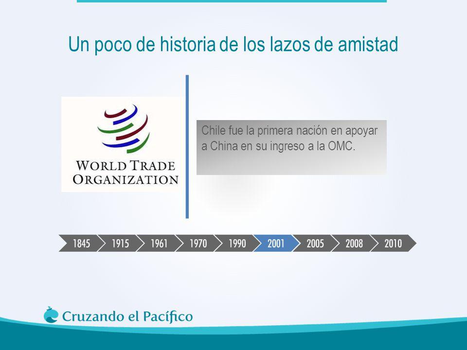 Chile fue la primera nación en apoyar a China en su ingreso a la OMC. Un poco de historia de los lazos de amistad