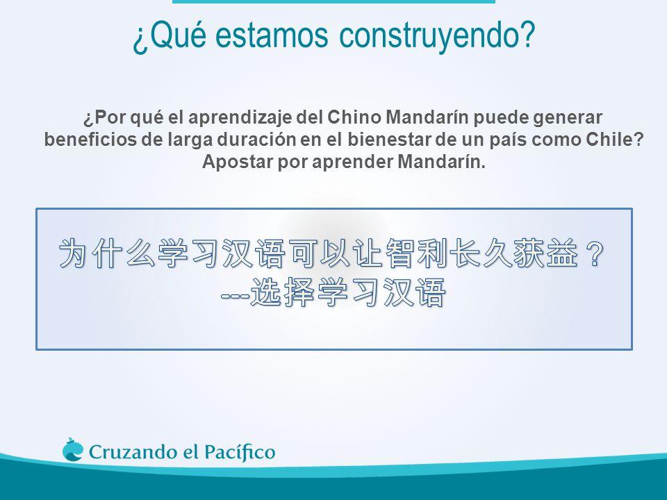 ¿Por qué el aprendizaje del Chino Mandarín puede generar beneficios de larga duración en el bienestar de un país como Chile? Apostar por aprender Mand