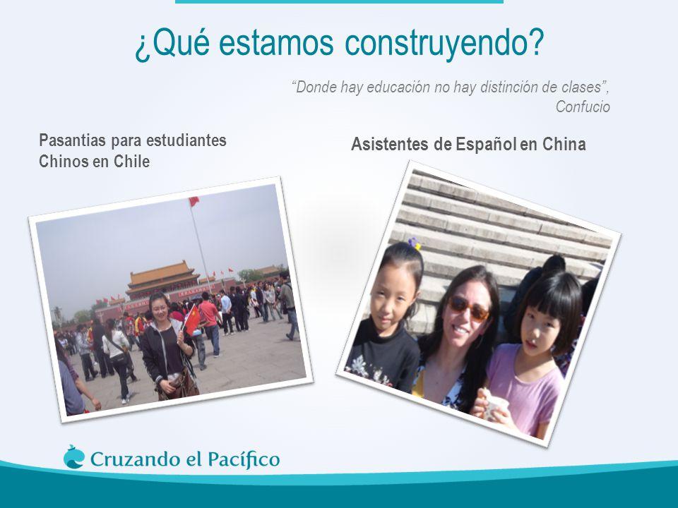 Pasantias para estudiantes Chinos en Chile Asistentes de Español en China Donde hay educación no hay distinción de clases, Confucio ¿Qué estamos const