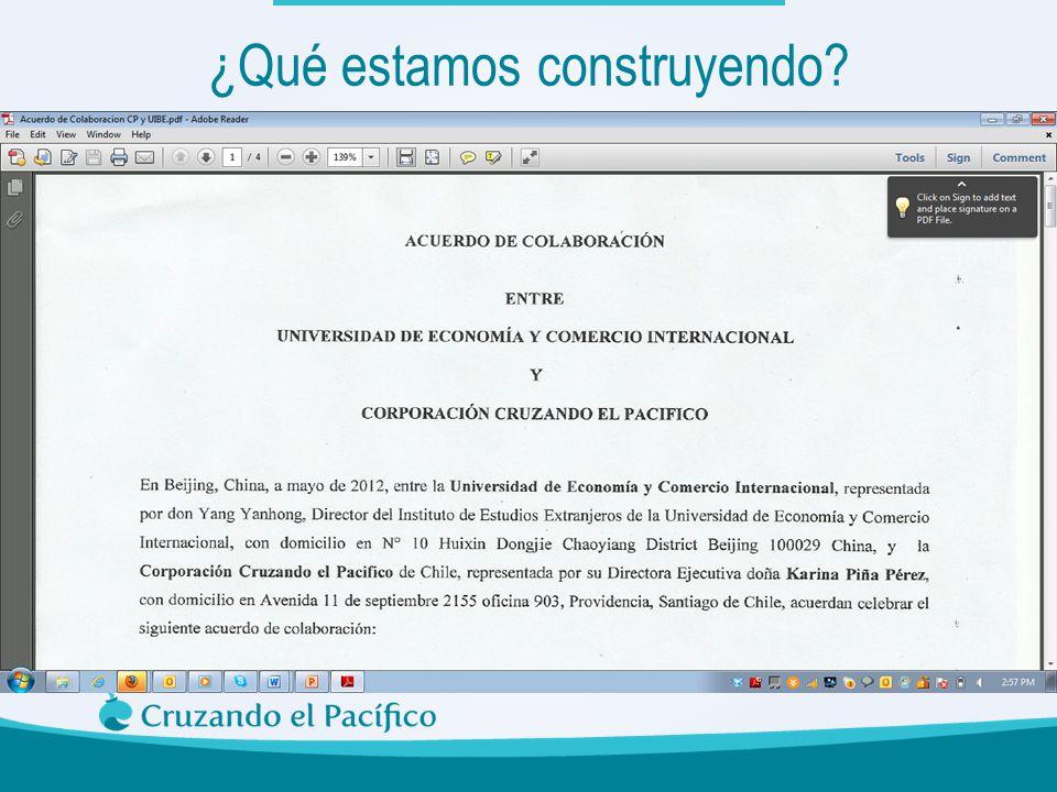 Pasantias para estudiantes Chinos en Chile Asistentes de Españolen China Donde hay educación no hay distinción de clases, Confucio ¿Qué estamos constr