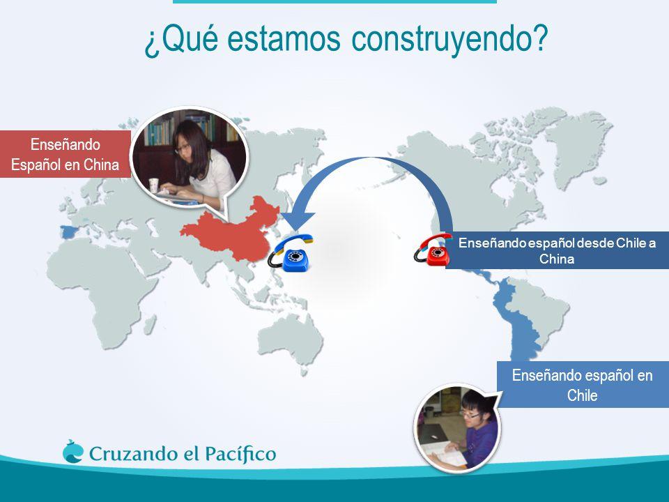Enseñando Español en China ¿Qué estamos construyendo? Enseñando español en Chile Enseñando español desde Chile a China
