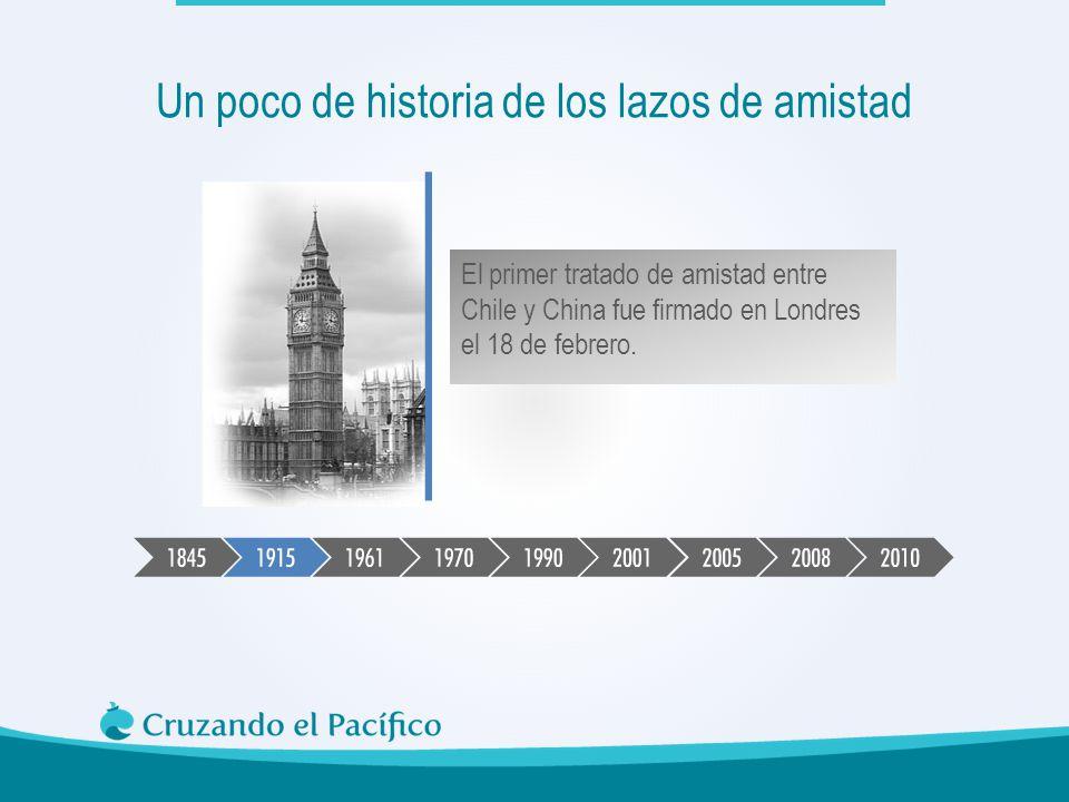 El primer tratado de amistad entre Chile y China fue firmado en Londres el 18 de febrero. Un poco de historia de los lazos de amistad