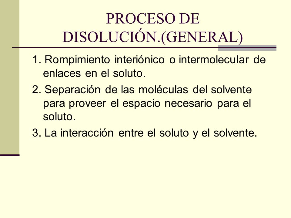 PROCESO DE DISOLUCIÓN.(GENERAL) 1.