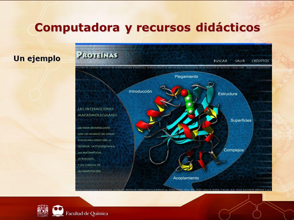 Computadora y recursos didácticos Un ejemplo