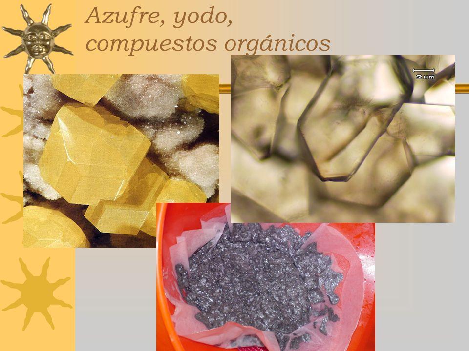 Curso Estratetgias Didácticas para la Enseñanza de la Química,3a ed, 2005-2006 Azufre, yodo, compuestos orgánicos