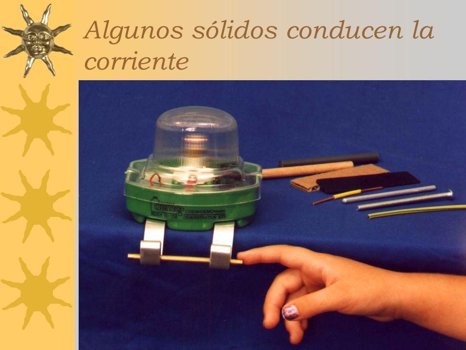 Curso Estratetgias Didácticas para la Enseñanza de la Química,3a ed, 2005-2006 Algunos sólidos conducen la corriente