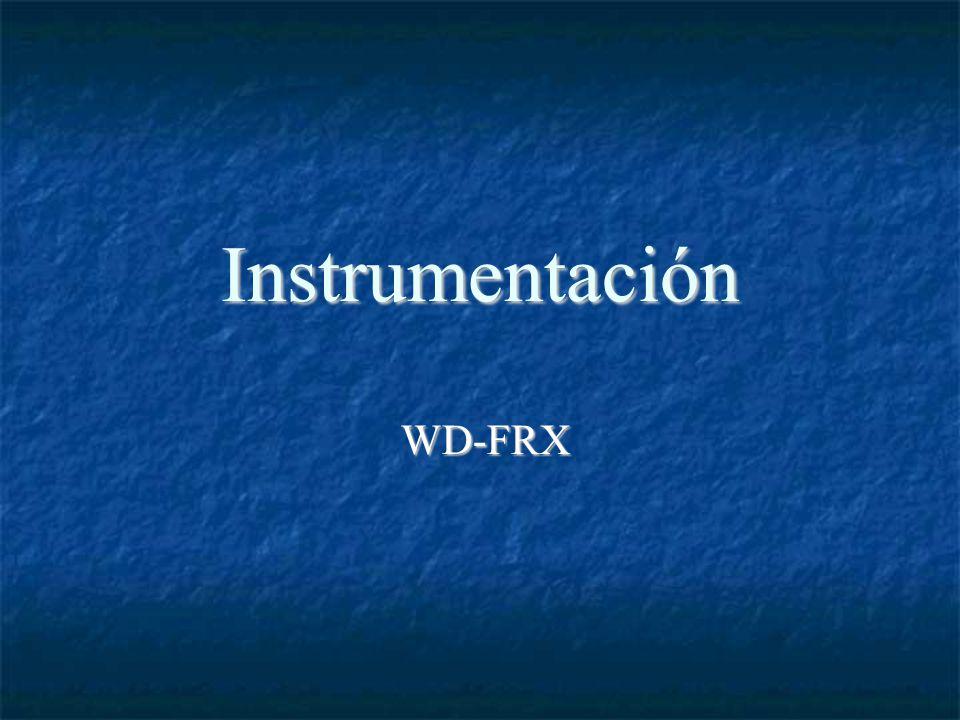 Instrumentación WD-FRX WD-FRX