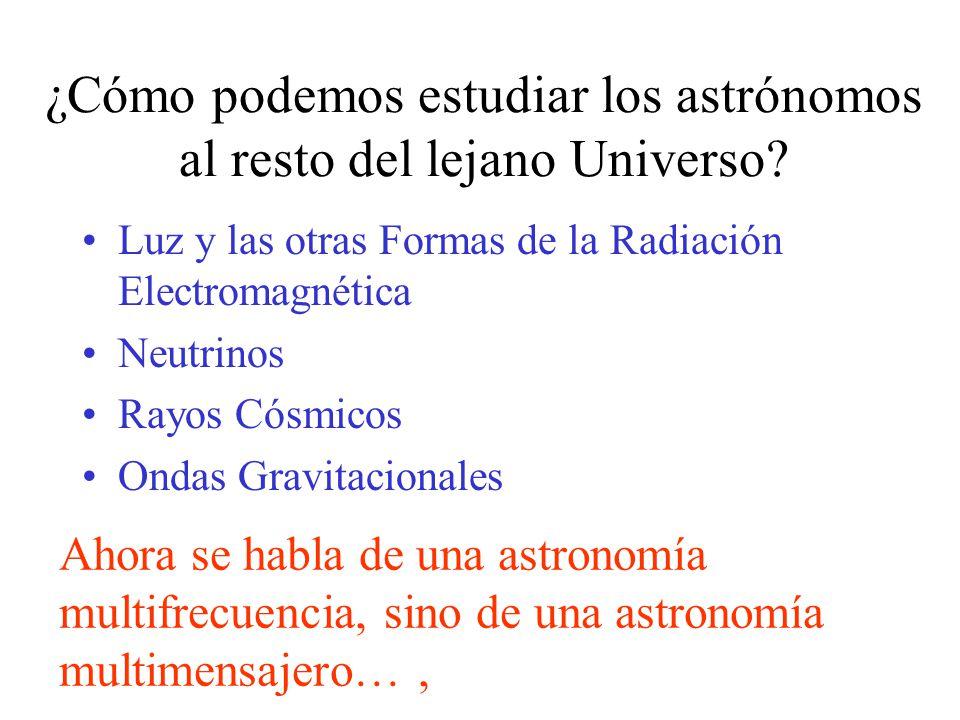 ¿Cómo podemos estudiar los astrónomos al resto del lejano Universo.