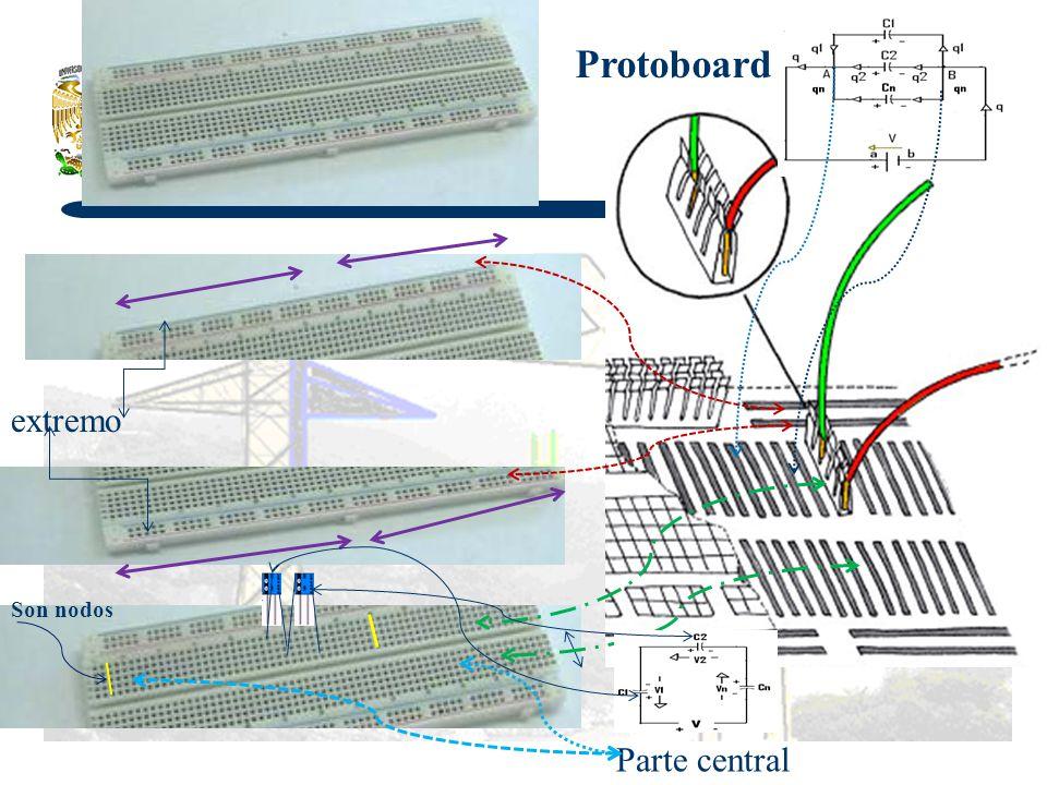Protoboard extremo Parte central Son nodos