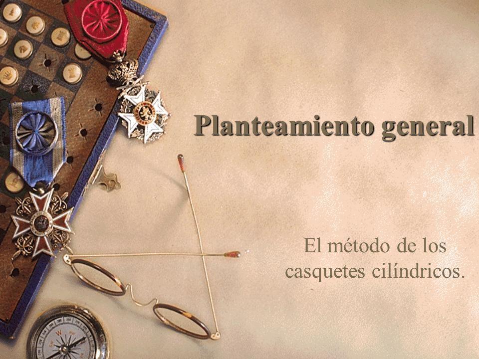 Planteamiento general El método de los casquetes cilíndricos.