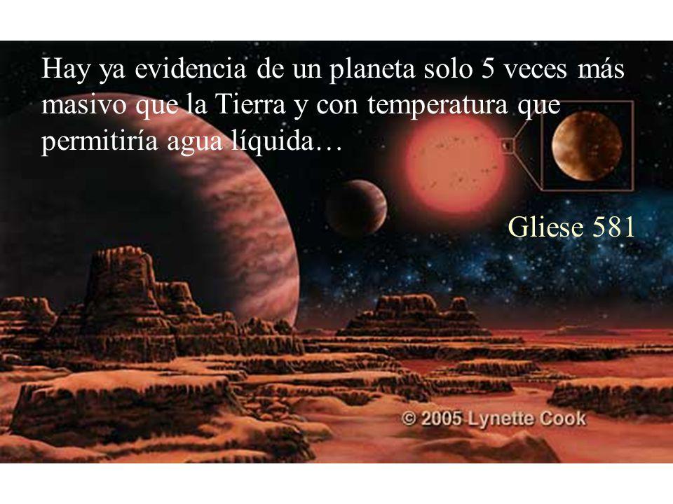 Hay ya evidencia de un planeta solo 5 veces más masivo que la Tierra y con temperatura que permitiría agua líquida… Gliese 581