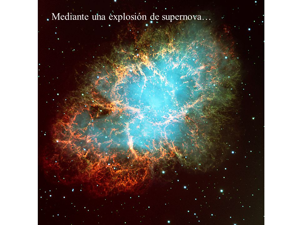 Nucleosíntesis En el interior de las estrellas se alcanzan temperaturas y presiones lo suficientemente altas para fusionar elementos en otros. Por eje
