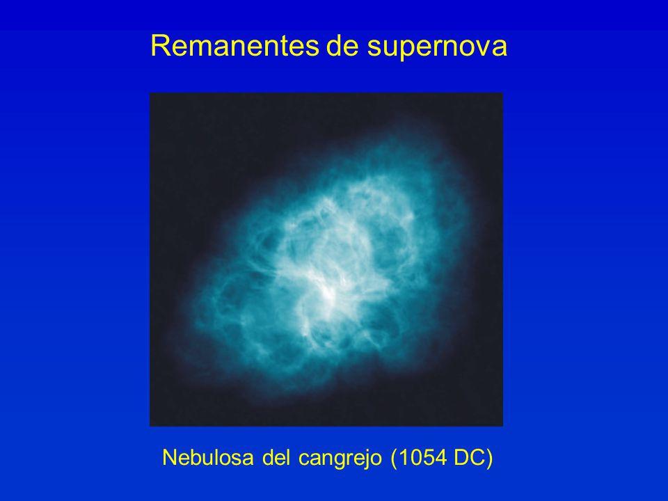 Remanentes de supernova Nebulosa del cangrejo (1054 DC)