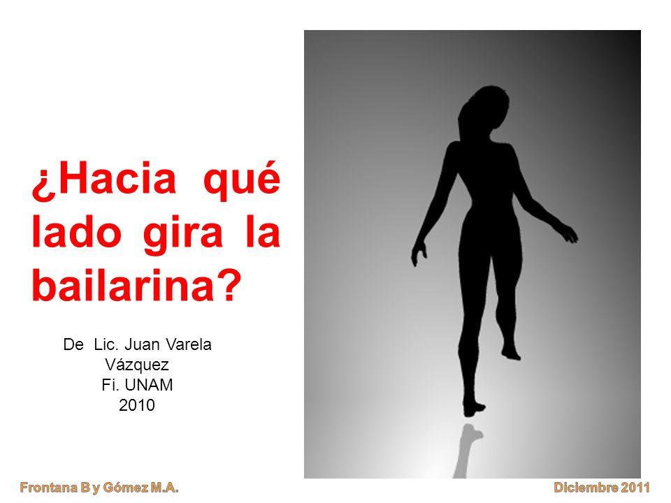 ¿Hacia qué lado gira la bailarina? De Lic. Juan Varela Vázquez Fi. UNAM 2010