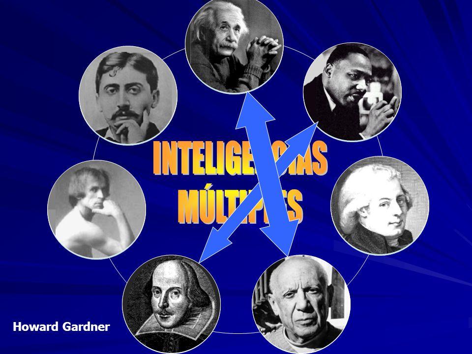 SOCIO- EMOCIONAL LÓGICO- MATEMÁTICA CORPORAL INTRA- PERSONAL MUSICAL ESPACIAL LINGÜÍSTICA Howard Gardner