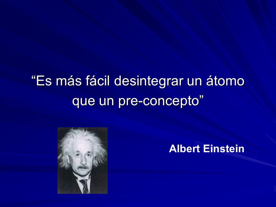 Es más fácil desintegrar un átomo que un pre-concepto Albert Einstein