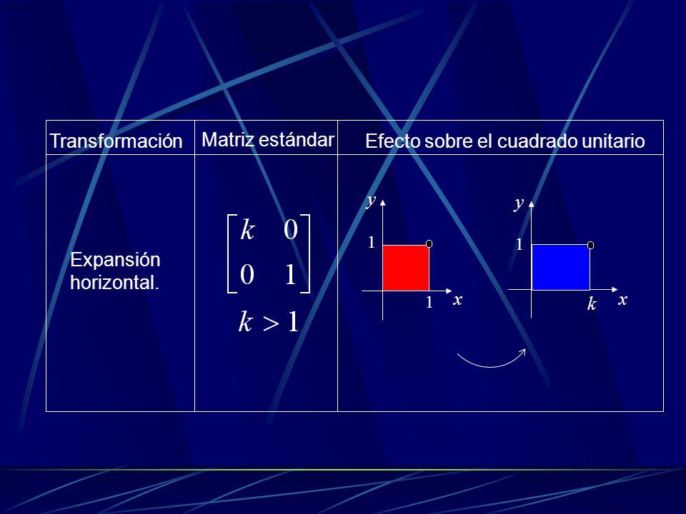 Contracción o compresión vertical.