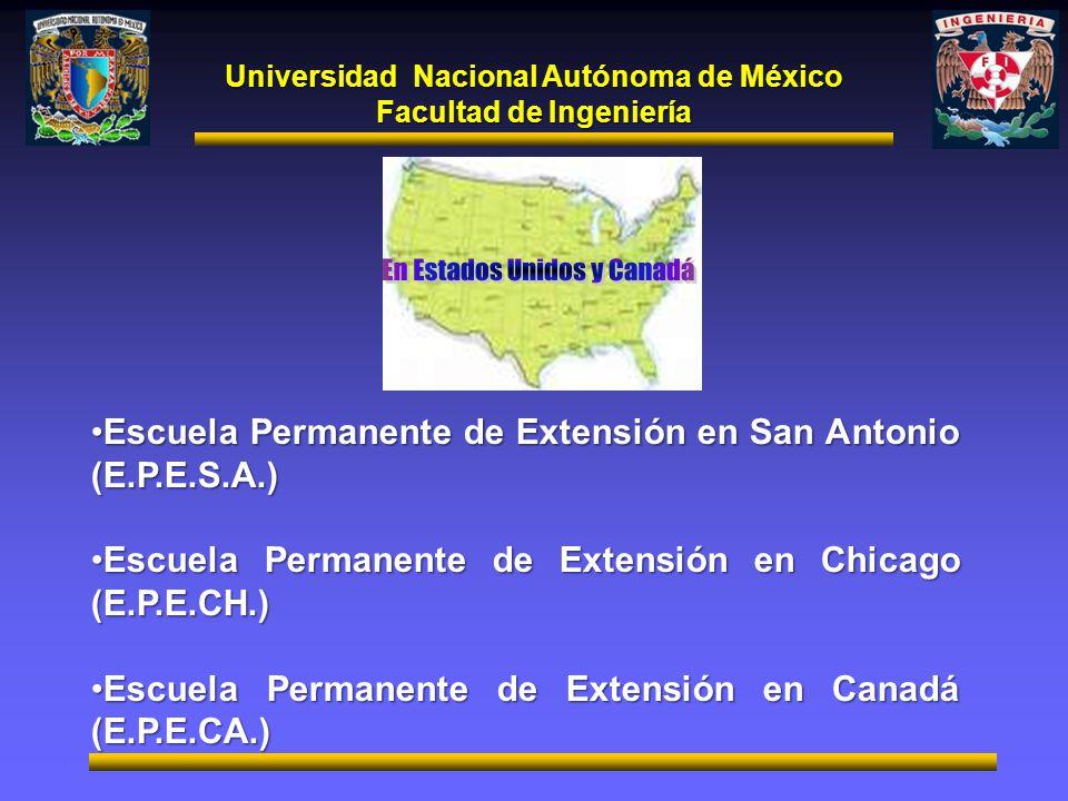 Universidad Nacional Autónoma de México Facultad de Ingeniería Escuela Permanente de Extensión en San Antonio (E.P.E.S.A.)Escuela Permanente de Extens