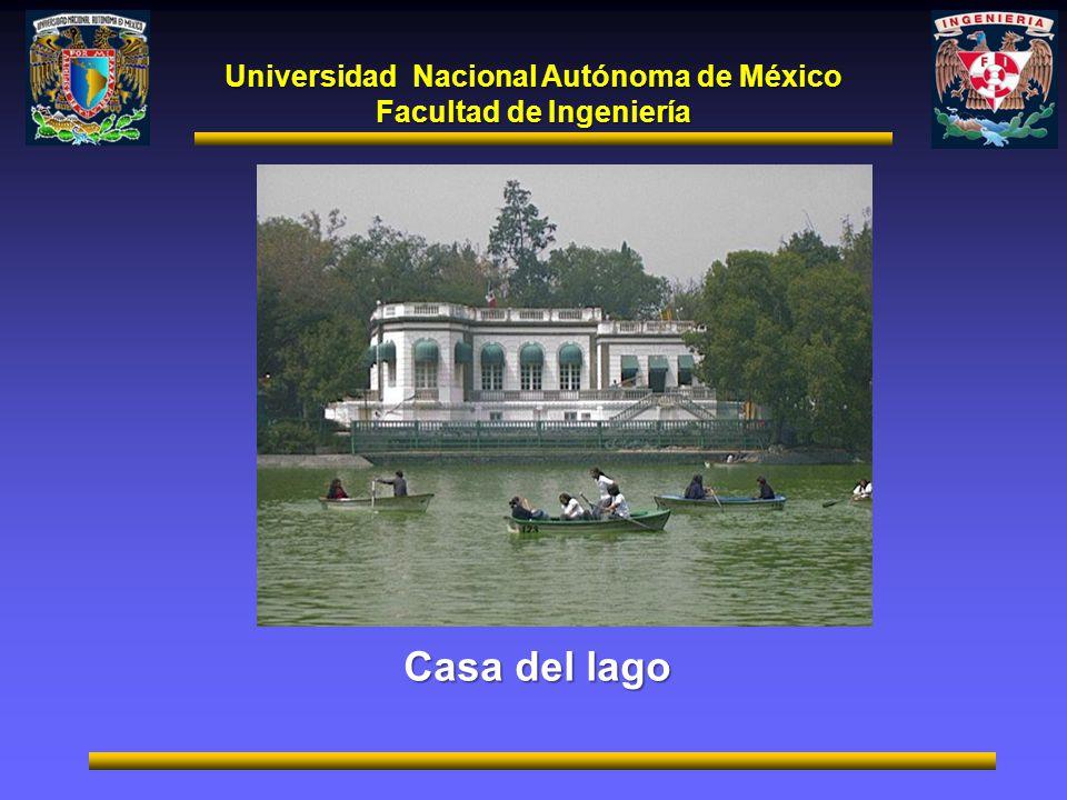 Universidad Nacional Autónoma de México Facultad de Ingeniería Casa del lago