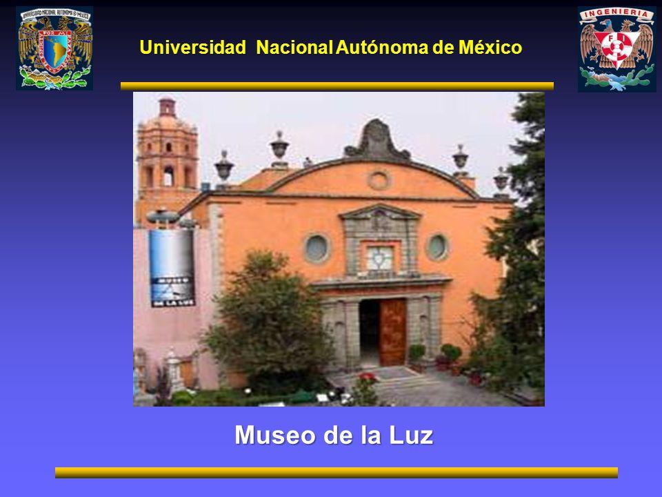 Universidad Nacional Autónoma de México Museo de la Luz