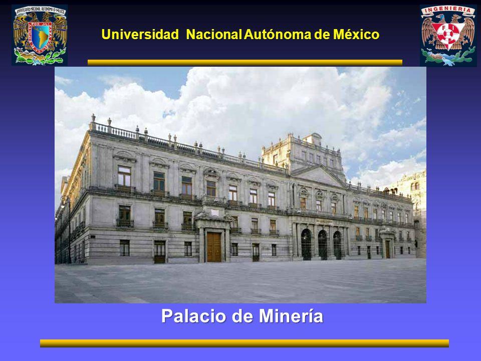 Universidad Nacional Autónoma de México Palacio de Minería