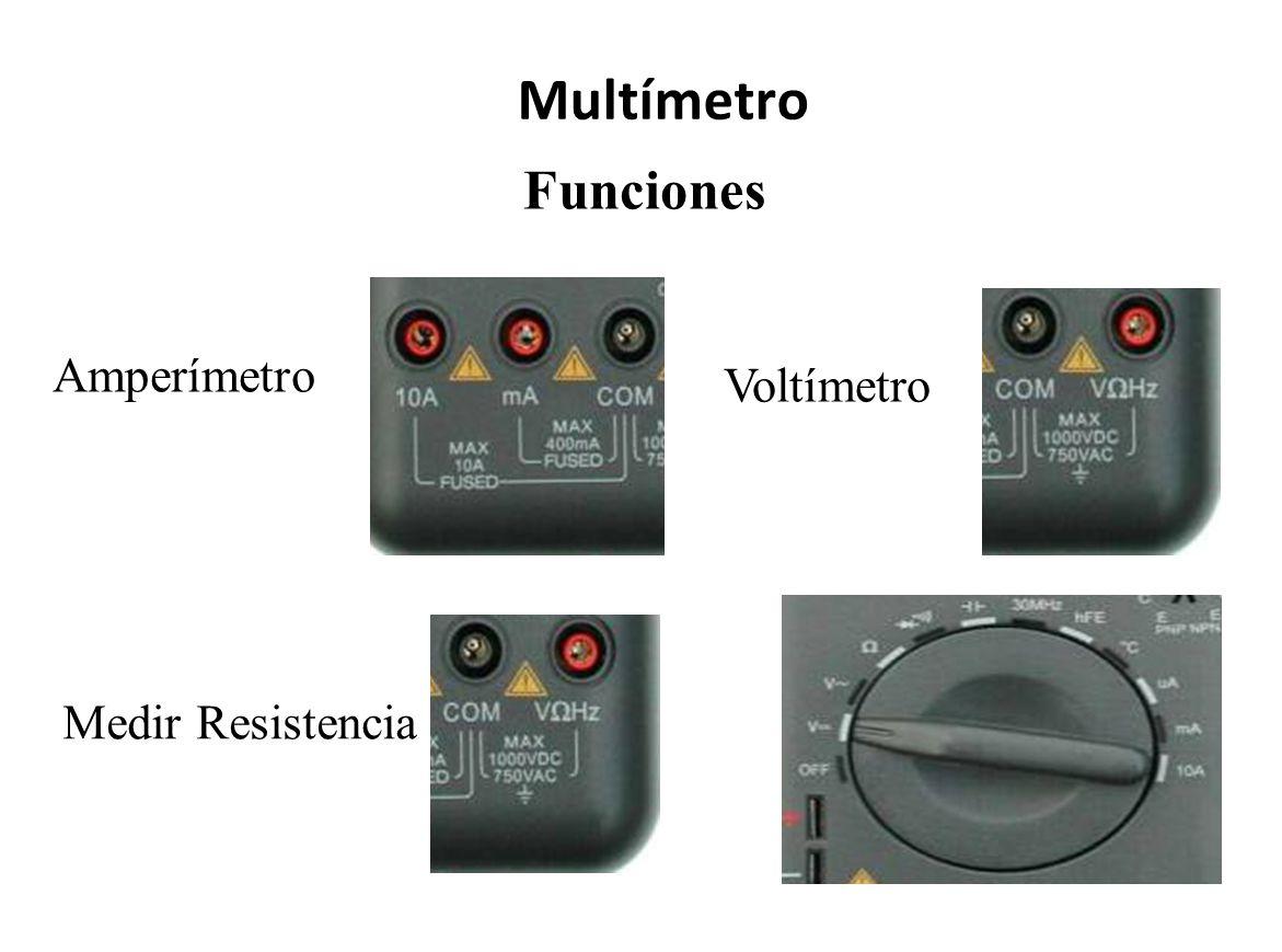 Funciones Multímetro Amperímetro Voltímetro Medir Resistencia