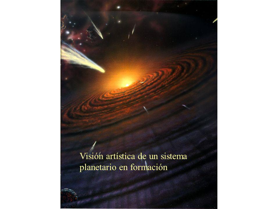 Visión artística de un sistema planetario en formación