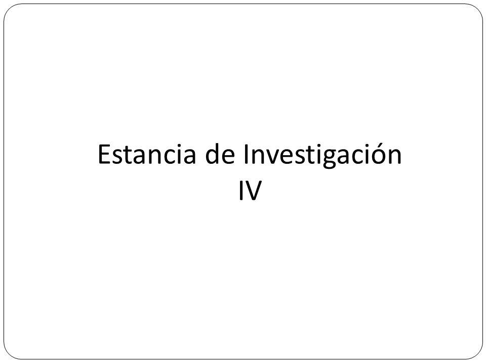 Estancia de Investigación IV