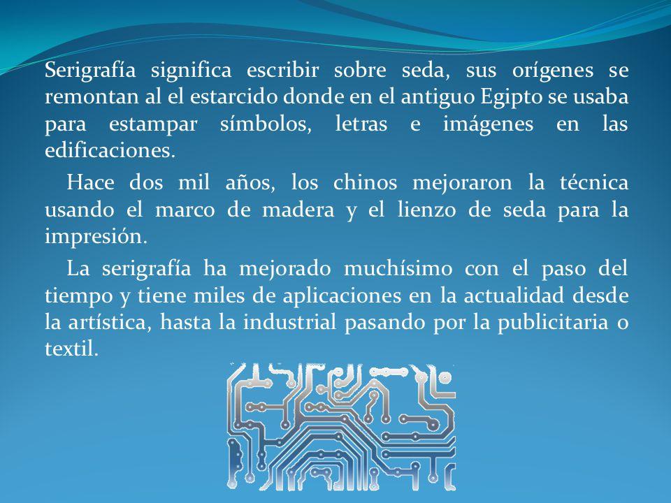 6.¿Cuál es el equipo utilizado en la impresión de circuitos por el método Seri gráfico.