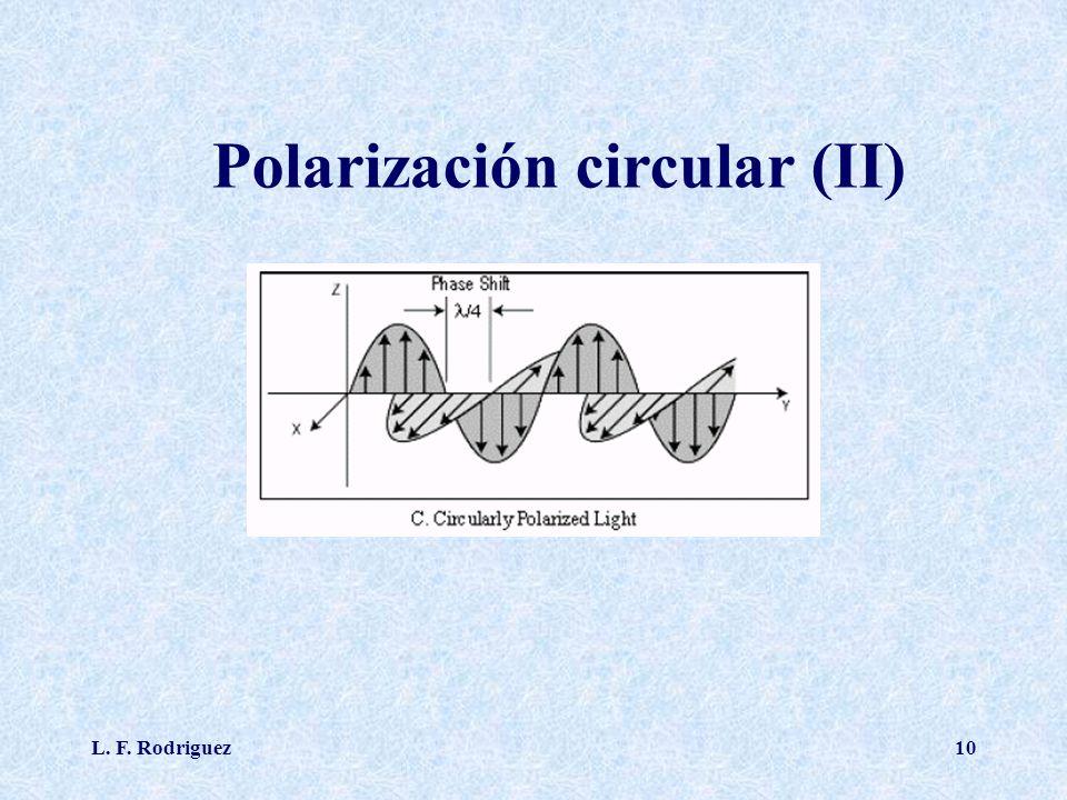 L. F. Rodriguez10 Polarización circular (II)