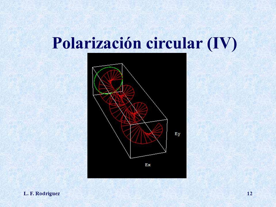 L. F. Rodriguez12 Polarización circular (IV)