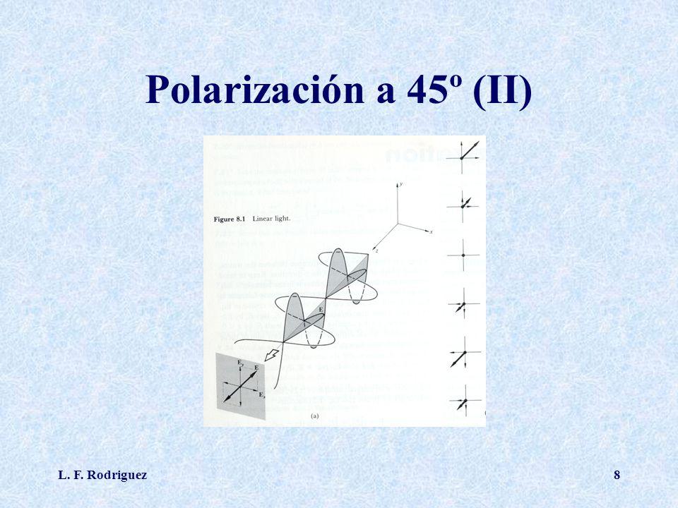 L. F. Rodriguez8 Polarización a 45º (II)