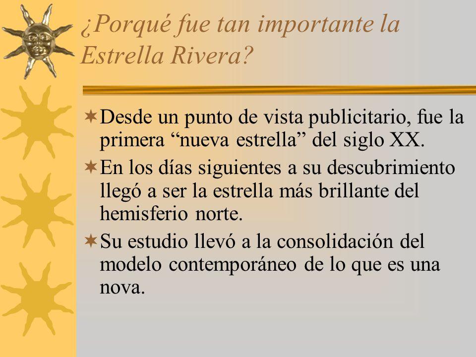 ¿Porqué fue tan importante la Estrella Rivera? Desde un punto de vista publicitario, fue la primera nueva estrella del siglo XX. En los días siguiente