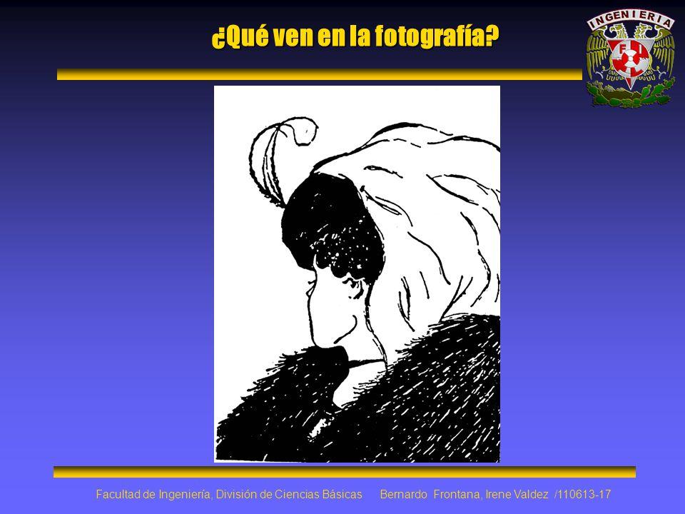 ¿Qué ven en la fotografía? Facultad de Ingeniería, División de Ciencias Básicas Bernardo Frontana, Irene Valdez /110613-17