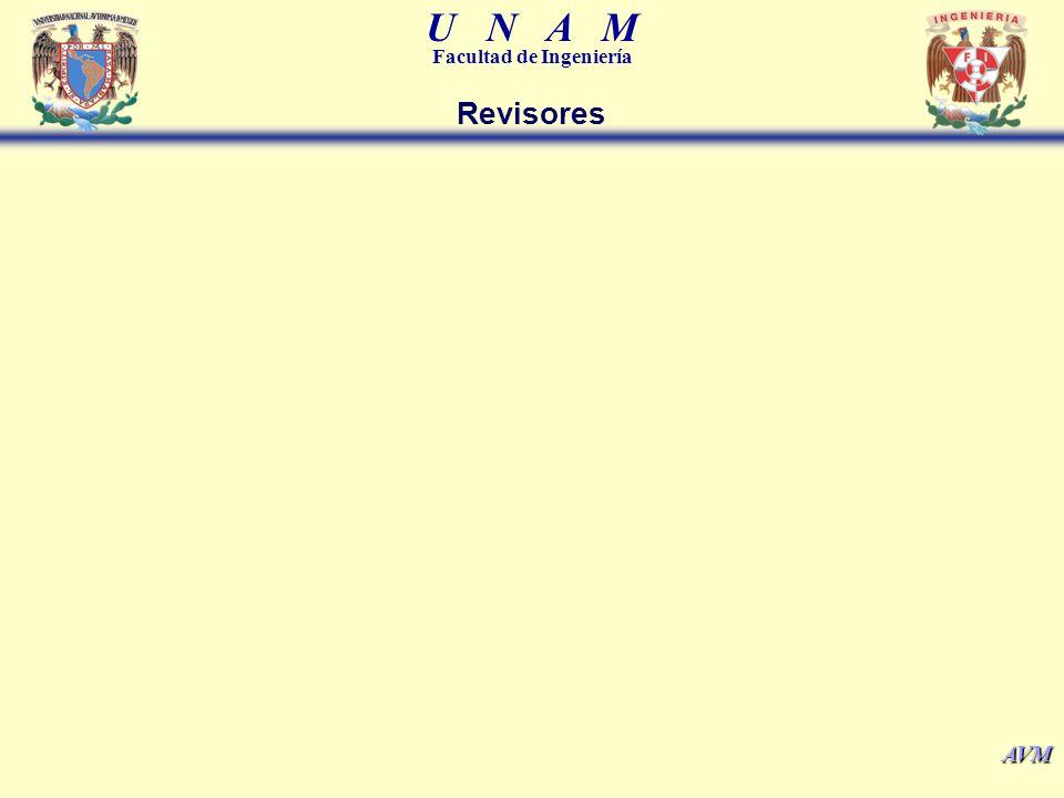 U N A M Facultad de Ingeniería AVM Revisores
