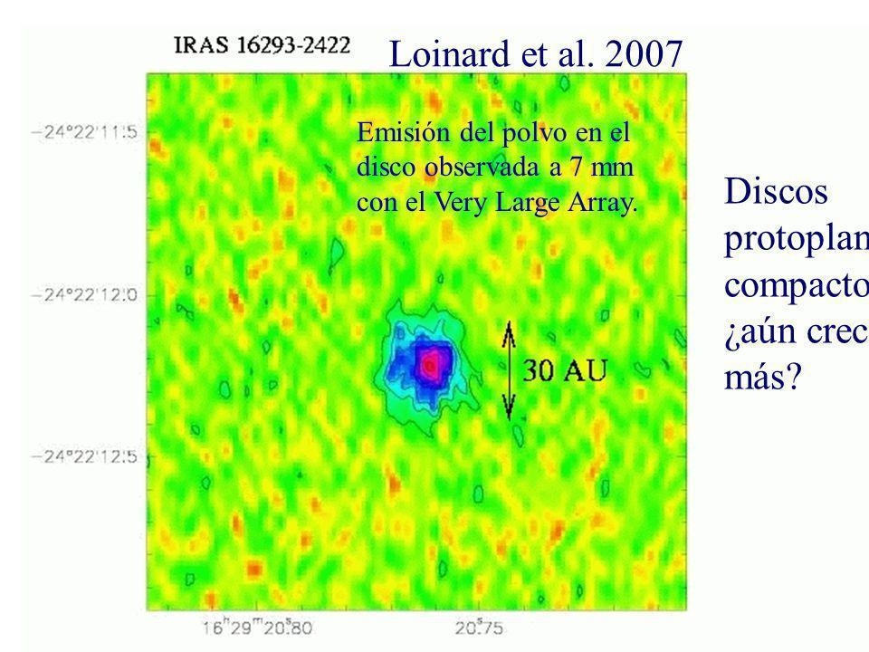 Loinard et al. 2007 Discos protoplanetarios compactos: ¿aún crecerán más